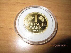 1 DM Goldmark 2001 G Goldmünze Deutsche Mark Münze