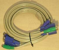 1,8m KVM Anschlusskabel Octopus 2x PS/2 Stecker-> Stecker + VGA Stecker-> Buchse
