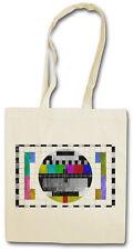 TV TEST PICTURE III HIPSTER BAG - Stofftasche Stoffbeutel - Testbild Retro Kult
