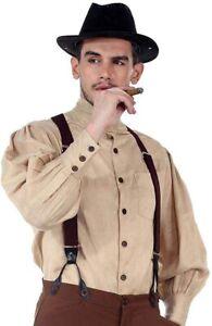 ThePirateDressing Steampunk Victorian Cosplay Costume Mens Seigneur Linen Shirt