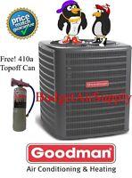 Goodman 4 Ton 14 Seer HEAT PUMP-A/C Condenser Charged 410a GSZ140481 + 410a Can