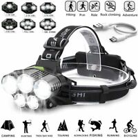 350000LM LED Headlamp Headlight Torch Rechargeable Flashlight 18650 Camping