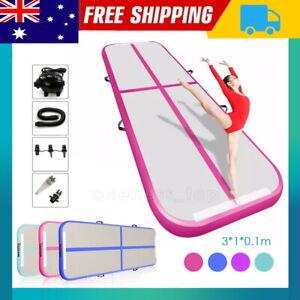 3M Air Track Inflatable Gymnastics Tumbling Mat Yoga Mat Floor W/Electric Pump A