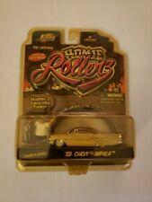 Jada Toys 1/64 Homie Rollerz 1959 Chevy Impala cruzer and Gordo Tan New