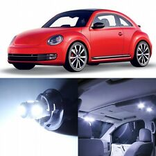 7 x Xenon White Interior LED Lights Package For 1998 - 2011 Volkswagen VW Beetle