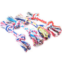 1PC Puppy Dog Cat Pet Toy Cotton Braided Bone Rope Teeth Clean Tug Chew Knot T3c
