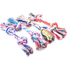 1Pc Puppy Dog Cat Pet Toy Cotton Braided Bone Rope Teeth Clean Tug Chew Knot Bs