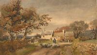 W. Kipling - c.1889 Watercolour, Near Ashover