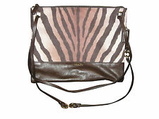 COACH MADISON ZEBRA ANIMAL CONVERTIBLE HIPPIE CROSSBODY HANDBAG PURSE BAG 51086