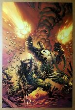 Wolverine Punisher Marvel Comics Poster by Mike Deodato Jr