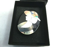 Abalone Mother Of Pearl Woman Inlay Brooch