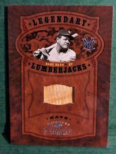 BABE RUTH 2005 DONRUSS CLASSICS LEGENDARY LUMBERJACKS GAME USED BAT CARD #18/25
