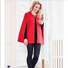 Joanna Hope ladies BOUCLE Cape Coat Red Size 18 BNWT rrp£59