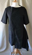 Marni Black Asymmetrical Short Sleeve Dress Size 42 Medium