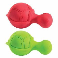 "Ruffians Turtle Shape Dog Toy Tough Durable Rubber Bouncy Squeak Toys 4 1/2"""