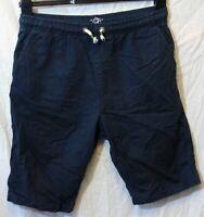 Boys Next Dark Navy Blue Drawstring Waist Chino Cotton Smart Shorts Age 13 Years