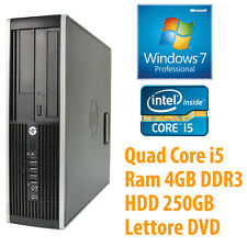 PC COMPUTER DESKTOP FISSO HP RICONDIZIONATO QUAD CORE i5 4GB 250GB WINDOWS 7 PRO