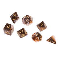 7 Pcs Dungeons and Dragons DND RPG MTG Table Games Acrylic Polyhedral Dice C