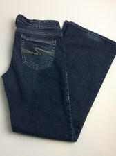 Silver Aiko Ladies Distressed Cotton/Poly Flare Jeans 29X31X7                 5D