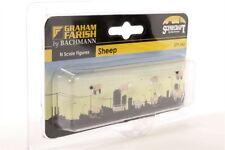 Graham Farish  379-343  N Gauge  ***** 8 SHEEP **** - Model Trains N SCALE