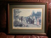 Sunday Morning in Sleepy Hollow Washington Irving After Etching by Jas. S. King