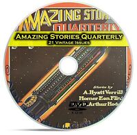 Amazing Stories Quarterly, 21 Classic Pulp Magazines, Golden Age Fiction DVD C30