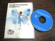 Adobe Photoshop Elements 7 for Windows Mint Guaranteed Item -S1