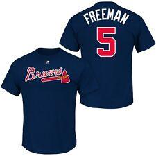 Freddie Freeman #5 Atlanta Braves Majestic Men's Navy Name & Number T-Shirt