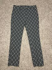 Express Columnist Slim Pants Size 2 Reg Inseam 31 Black Off White NWT $79