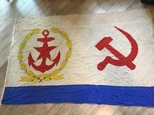 Rare !!!! Ussr Cheef of Fleet Staff Navy Flag Fleet Original Soviet