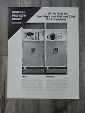 Hot & Cold Beverage Vendor Machine Flyer Original Seeburg Brochure