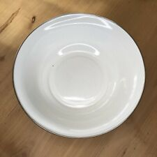 """Pottery Barn Partyware Enamelware White Serving Bowl 12"""" X 4"""" Deep HTF Round"""