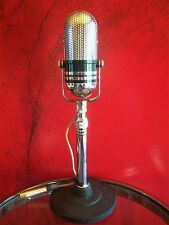 Vintage 1960's Calrad 500 C crystal microphone pill Japanese old RCA w stand