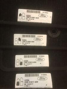 FORD EXPLORED XL OEM 2020-21 CARPET FLOOR MATS SET BLACK W/ WHT STITCH