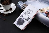 Funda flip libro piel sintetica estampado monedero para Huawei Ascend P9 Lite