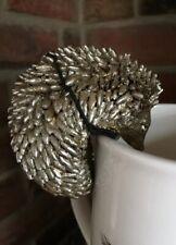 4 Parlane Platinum Silver Resin Hedgehog Fox Mouse Squirrel PotHanger Decoration