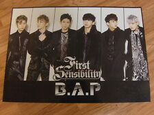 B.A.P - FIRST SENSIBILITY (TYPE A) [ORIGINAL POSTER] *NEW* K-POP BAP