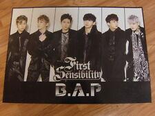 B.A.P - FIRST SENSIBILITY (TYPE A) [ORIGINAL POSTER] *NEW* K-POP BAP