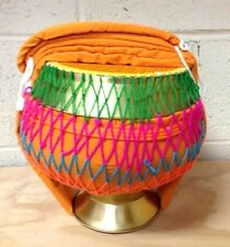 Thai Buddhist Newly Ordained Monks Alms Bowl with Colorful Strings