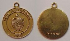 1993 Brookfield Country Club Ny Bcc 50 Invitational Tournament Charm 1/10 10K Gf