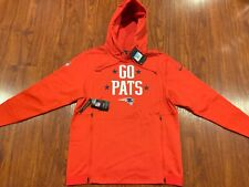 Nike Men's New England Patriots Sideline Local Lockup Hoodie Sweatshirt Medium M