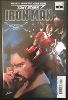 Tony Stark IRON MAN #1a (2018 MARVEL Comics) VF/NM Book