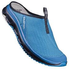Salomon RX slide 3.0 hombre azul caminar Cámping verano zapatos pantuflas 41 3