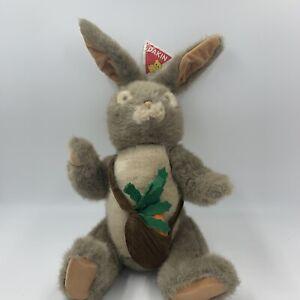 Vtg New Dakin Rabbit Plush Peter Rabbit 1983 W/ Carrot Bag Stuffed Animal 20