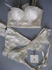 PLEASURE STATE August Skye 12A /34A Strapless LL Bra M Thong /Suspender  Rrp$190