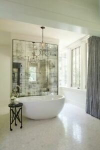 **SAMPLE PIECE** Antique Mirror Glass, Distressed, Foxed  Tiles -100mm  X 200mm