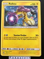 Carte Pokemon RAIKOU 79/214 RARE Soleil et Lune 8 SL8 Tonnerre Perdu FR NEUF