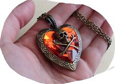 restyle nugoth satanic steampunk kette medaillon herz foto gothic skull heart
