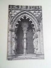 LICHFIELD CATHEDRAL, West Porch  - Vintage Grano Series Postcard  §B1303