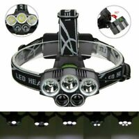 350000LM 5X XML T6 LED Headlamp Rechargeable Head Light Flashlight Torch Lamp US